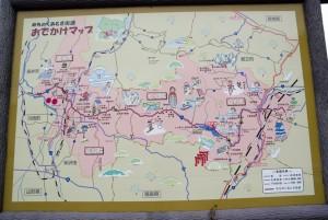 七ヶ宿街道MAP
