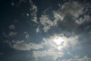 太陽が顔を見せた
