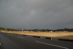泉ヶ岳往路の虹