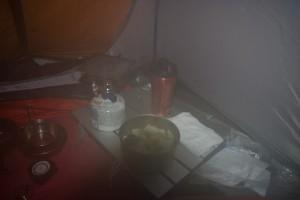 朝食のコンソメスープ
