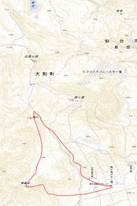 泉ヶ岳周辺基盤地図
