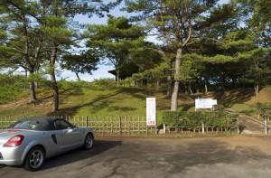 大平山リゾート高原の無料キャンプ場入り口