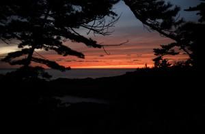 沈み行く夕日