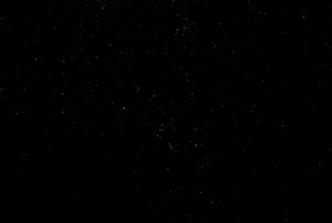 短縮コース登山口の星空