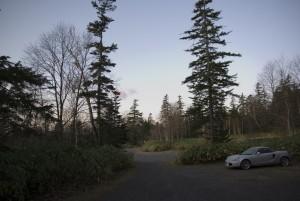 短縮コース登山口の駐車場