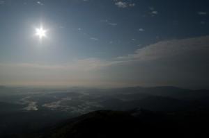 絞って撮影した太陽