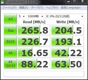 Intel 510 Series SSD 単独ベンチマーク(AHCI モード)