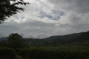 雨がおとなしくなる