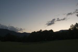 夕暮れの吹上高原