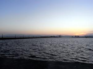 南防波堤の先端からの風景