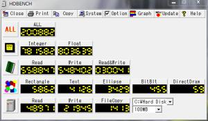Corei7 SATA 1 台のときに 100MB での Read/Write