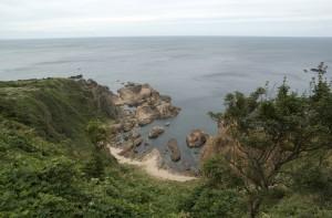 男鹿半島の断崖からの風景