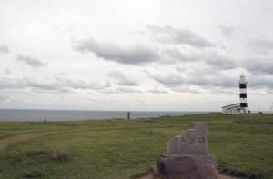 北緯40度の入道崎の風景
