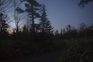短縮コース登山口の夜明け