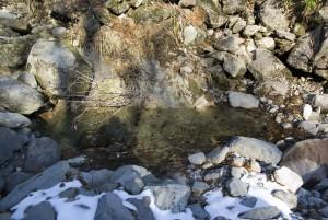 コマドリ沢の冷たい水