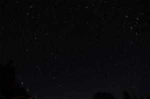 北極星を中心にした星野写真