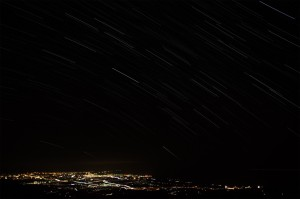 鳥海山からの夜景