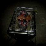 豚肉調理中