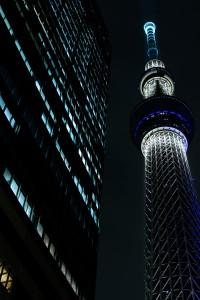 東京スカイツリーの夜